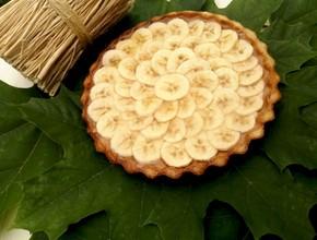 Пирог песочный с бананами